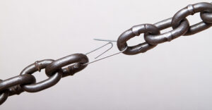 weakest link in a chain. concept of genuine software (machine part, team player, etc) makes difference